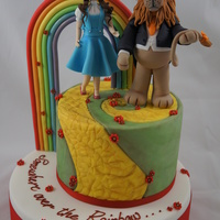 Somewhere Over The Rainbow I made this cake for some friends that got married last friday, the bride loves all things OZ!! Cakes were dummies covered in fondant ,...
