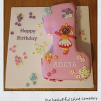 Upsy Daisy Number 1 Cake   A number 1 with In the Night Garden's Upsy Daisy.