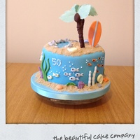Tropical Island Theme Birthday Cake All elements were handmade from gum paste