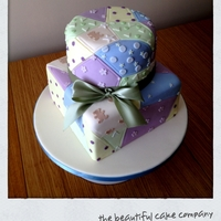 Patchwork Cake A 1st birthday cake for my baby boy based on Zoe Clark's design in her book 'cake decorating at home' . i did the top tier...