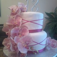 Elegant 18 Strawberry cake with cream cheese fondant covered in fondant