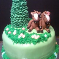 Horsing Around Birthday cake for a girl that loves horses...all edible.