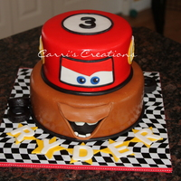 "Another Cars Themed Cake I Cant Take Credit For This Design However I Saw It On Pinterest By Sweet Treasures Cakes Sweet Treaures Another ""Cars"" themed cake. I can't take credit for this design however. I saw it on Pinterest by Sweet Treasures Cakes. (..."