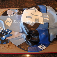 Motocross Cake Cake for a friend's son turning 16 and REALLY into motocross