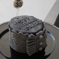 Black And Silver Bday Cake