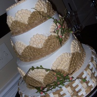 Sweetgrass Inspired This wedding cake was created with a sweetgrass theme in mind (Charleston {SC} basket weavers use sweetgrass to make their popular...