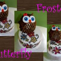 Owl Folk Art Cake