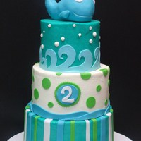 2Nd Birthday Whale Cake