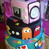 Totally 80's buttercream & fondant. Radio is cake