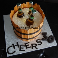 Cheers! Happy 30Th!! A cake made for my brother in law who is turning 30! A surprise party is planned for tomorrow!A special thank you goes out to AKCAKE 911, I...