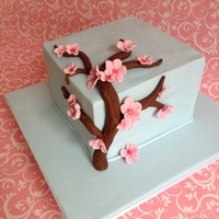 Cherry Blossom Birthday Cake My version of the popular cherry blossom cake created for a dear friends birthday recently. Chocolate cake with IMBC with crushed oreo'...