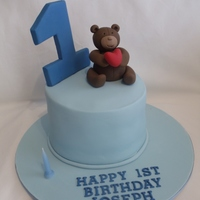 Baby Blue First Birthday Cake Created this wee cake for my son's first birthday. The cake itself was Chai spiced cake with a ginger and honey buttercream - an...