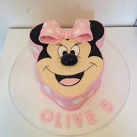 Minnie Mouse Cake A sweet Minnie Mouse cake created for a friends daughter who was turning five. So much fun doing this one and was very pleased how she...