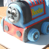 Brodie's 3Rd Birthday A 'train' cake for my nephew. Chocolate cake with cookies and cream filling and fondant. The wheels are fondant covered cookies....