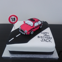 Original Mini 18Th Birthday   Topper made to look like the birthday boys own original mini