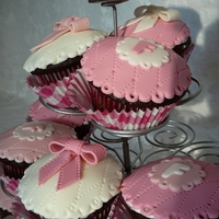 Girly Quilted Cupcakes