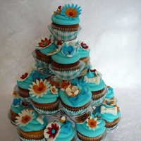 Colorful Flower Cupcakes