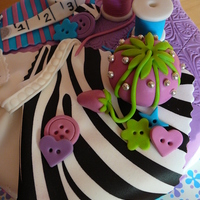 Sewing Zebra Cake