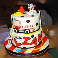 Baby Liam friend wanted a firetruck theme baby shower cake and sent me a picture of it, after looking it up online I found the maker of this cake ,...