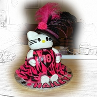 Hello Kitty All Grown Up   hat made out of RK, feathers and ribbon provided by my friend