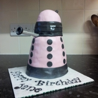Dalek Cake  Pink Dalek cake for a Dr.Who fan.It took 6 layers of victoria sponge cake and a RKT dome to get it the requested 'size of a kettle&#...