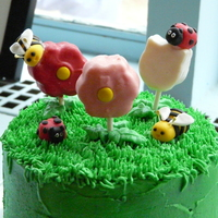 Spring Cake With Cake Pops