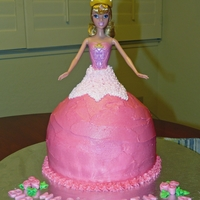 Princess Birthday Cake The little girl wanted a sleeping beauty birthday cake. The cake is covered in buttercream. The crown is fondant. TFL!
