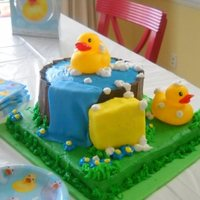 Baby Shower Cake   rubby duck in a tube