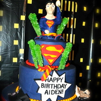 Superman Birthday Cake   superman made out of 50/50 covered with modeling chocolate