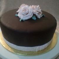 A Birthday Cake For A 46 Years Old Child Pound cake covered with brandy syrup and chocolate fondant. This was my first attempt making gum paste roses. Thanks for your comments and/...