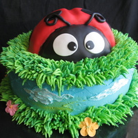 Ladybug Cake This cake is inspired by Alana Hodgson's ladybug cake. It was so cute I couldn't resist trying it! Spice cake with creamcheese...