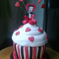 Giant Betty Boop Cupcake
