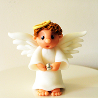 Christmas Angel Cake Topper Cute Christmas Angel wishing you a lovely holiday.