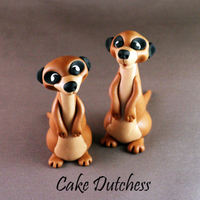 Meerkats! Tried to create fondant Meerkats! :)