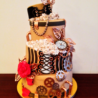 Steampunk My version of a Steampunk Wedding cake :)