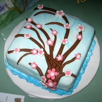 Blossom Cake. Spice cake, cream cheese frosting, mm fondant.