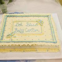 Vintage Look And Color Baby Shower  The paper goods had a very sweet, vintage looking painting of a sleeping baby printed on them. I stressed at how to do this cake and then...