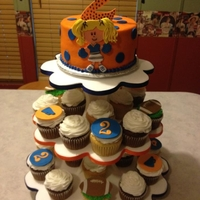 Go Gators GATORS CHEER CAKE WITH CUPCAKES