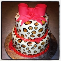 Sweet 16 Cheetah Cake