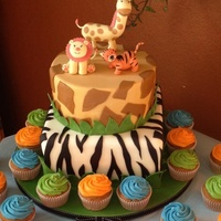 Safari Themed Baby Shower Cake Animal Figurines Are Made Out Of Gumpaste Top Tier Is Styrofoam Bottom Tier Is A Butter Cake W Whipped Cr Safari themed baby shower cake. Animal figurines are made out of gumpaste. Top tier is styrofoam, bottom tier is a butter cake w/ whipped...