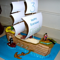 Pirate Ship   One of my first cakes, don't laugh :)