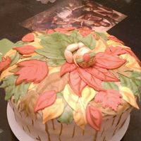 Fall Leaves   Made this gingerbread cake with caramel buttercream filling for a Fall baby shower.