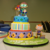 Super Why   Super Why cake covered with MMF