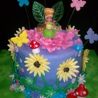 Tinker Bell Buttered Yellow cake with butter cream filling