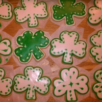 St Patty Cookies First time using the flooding technique with royal icing