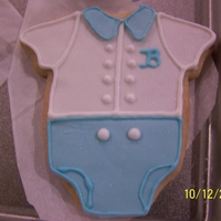 Boy Baby Shower Cookies Sugar coolies covered in fondant.