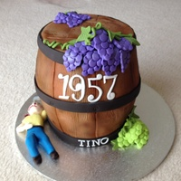 Wine Barrel Made this cake for my husband's 57th birthday. Ever since I saw it on the net I wanted to make it. took me approx. 16hrs to finish....