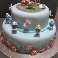Smurf Cake I made this for a 10 yr old young lady who is in love with the smurfs