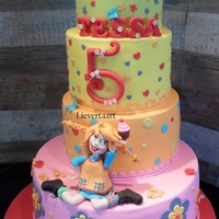 Pippi Longstocking Cake For A 5 Year Old Girl   Pippi longstocking cake for a 5 year old girl