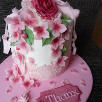 Thank U Cake   Cake too say thanks . For someone who loves ballet. Alle covered in fondant, decoration also in fondant.